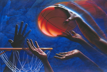 ABOVE THE RIM Limited Edition Print by Mark Smollin