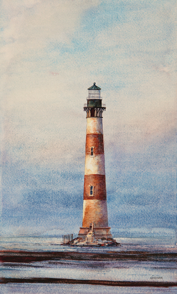 LAST STAND - Lighthouse Watercolor Painting